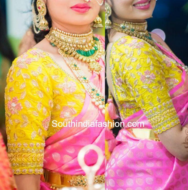 maggam-blouse-for-silk-sarees.jpg (758×768)