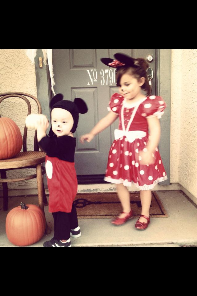 Cute for a brother and sister Halloween costume idea