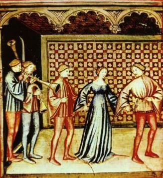 La danza, Tacuinum Sanitatis, XIV sec. Giovannino de' Grassi