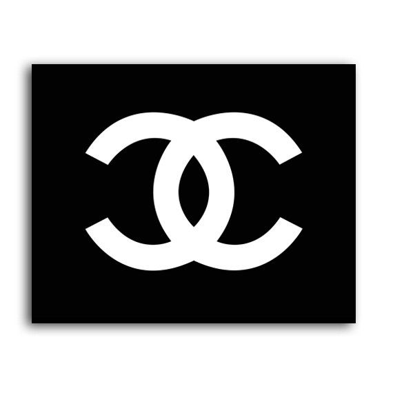 Printable Coco Chanel Logo INSTANT DOWNLOAD, Parfume Chanel Logo Print 8x10 Poster Black White Wall Art Decor Poster Fashion Chanel Decor