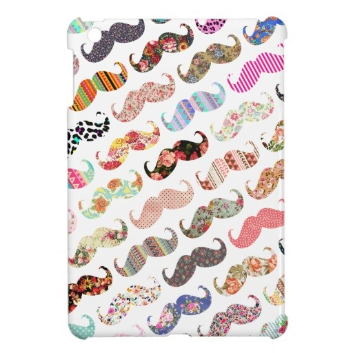 Funny Girly Colorful Patterns Mustaches