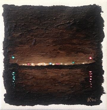 "Nights Edge by Kurt Weismair Acrylic ~ 5"" x 5"""