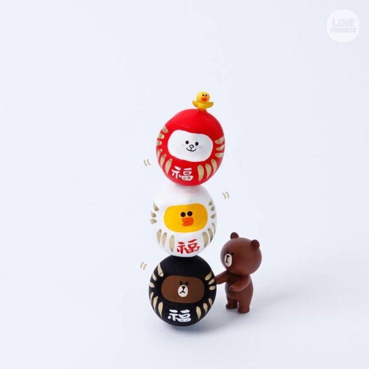 LINE FRIENDS STORE 愛らしく縁起のいい「福だるま」で登場!