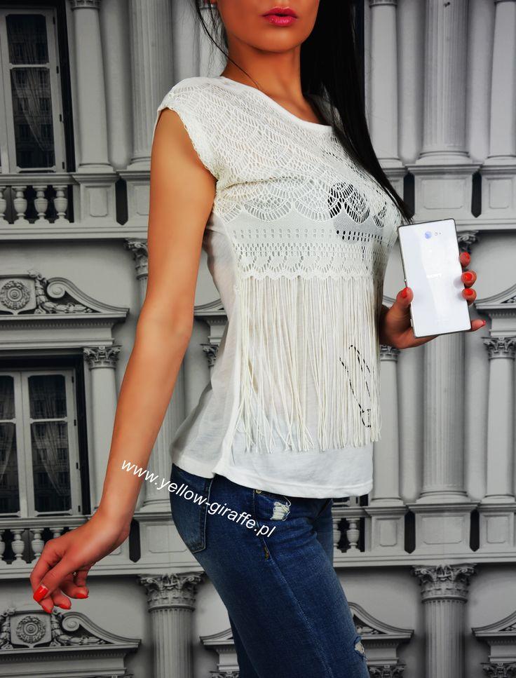 Bluzka SUMMER White 🌞  Www.yellow-giraffe.pl  #yellowgiraffepl #white #top #tshirt #summer #butik #butikonline #zakupy #instashop