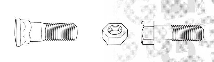 Śruby stożkowe z posadzeniem kwadratowym, oraz nakrętki o klasie twardości 12,9 przeznaczone do lemieszy.