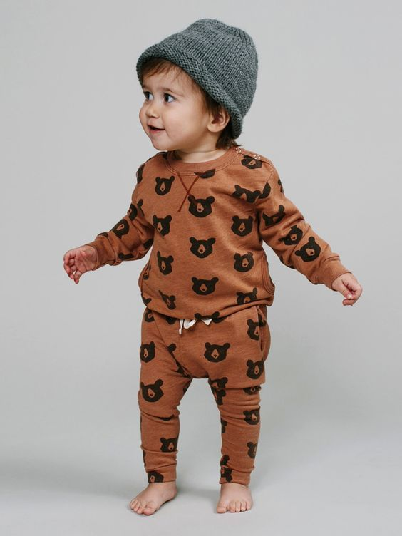 Cutest fall sweatsuit for baby boy!