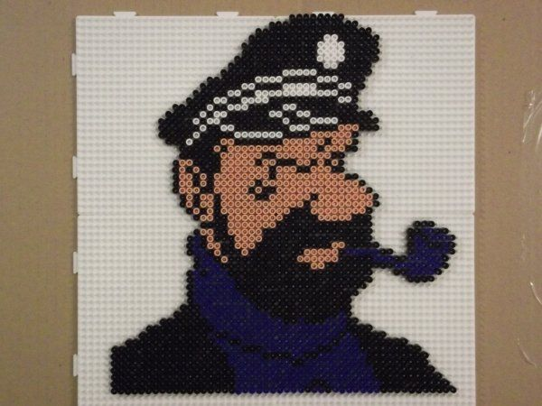 Capitaine Haddock hama beads by jungledusud