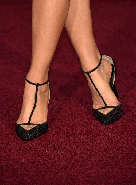 "Ali Landry Photos Photos - Shoe detail of actress Ali Landry during the premiere of Disney's ""Cinderella"" at the El Capitan Theatre on March 1, 2015 in Hollywood, California. - 'Cinderella' Premieres in Hollywood — Part 3"