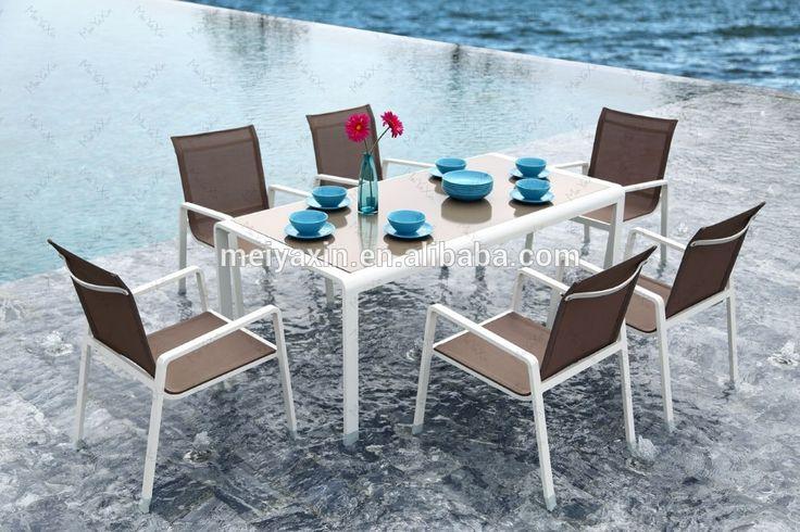 dış mekan mobilyaları 2015 yeni alüminyum çerçeve açık mobilya