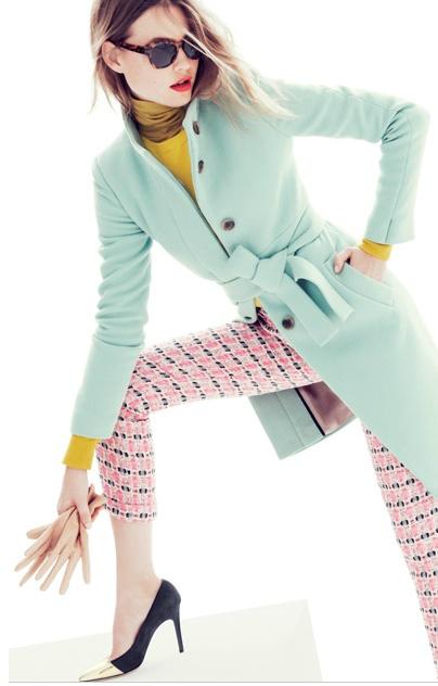 Pastel coat from J.CREW.