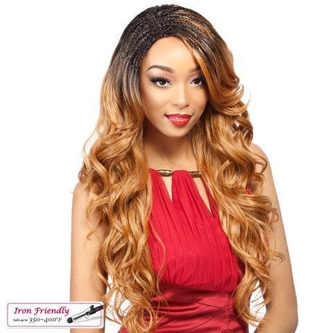 It's a Wig Synthetic Invisible Braid Lace Front Wig BRAID WAVY