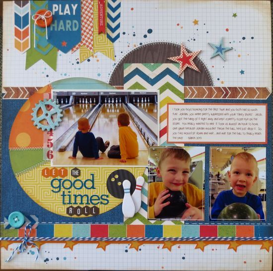 #papercraft #scrapbook #layout.   BOWLING AT DOWNTOWN DISNEY