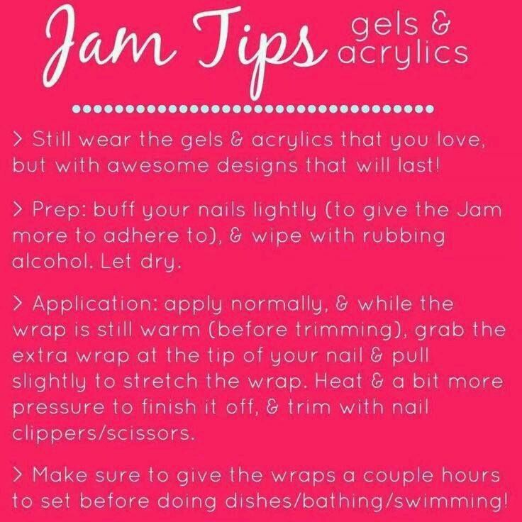 jamberry tips for gels & acrylics