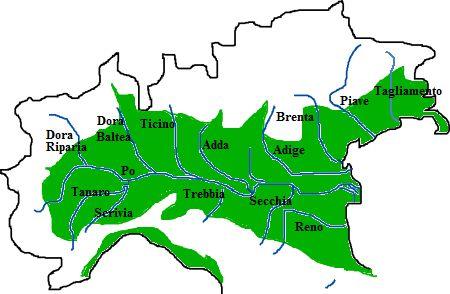 Fiiumi della Pianura Padana