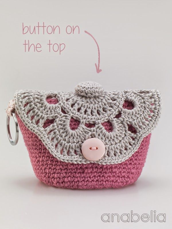 ... Makeup Crochet, Anabelia Craft, Crochet Bags, Crochet Makeup Bag