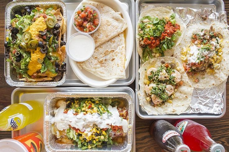 """MAYANA MEXICAN KITCHEN  7810 Forsyth Boulevard, Clayton; 314-833-8200. Mon.-Sat. 11 a.m.-8 p.m. (Closed Sundays). A selection of dishes at Mayana Mexican Kitchen: carne guisado nachos, cheese quesadilla, tacos and the """"Wet Burrito."""""""