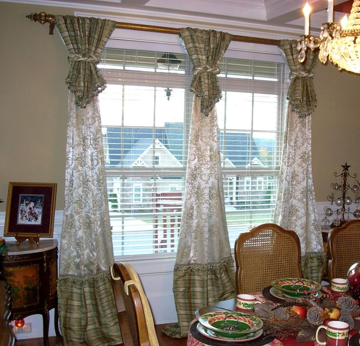 93 best stylish window treatments images on pinterest - Living room picture window treatments ...