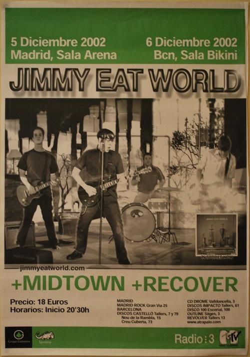 JIMMY EAT WORLD, Gira 2002