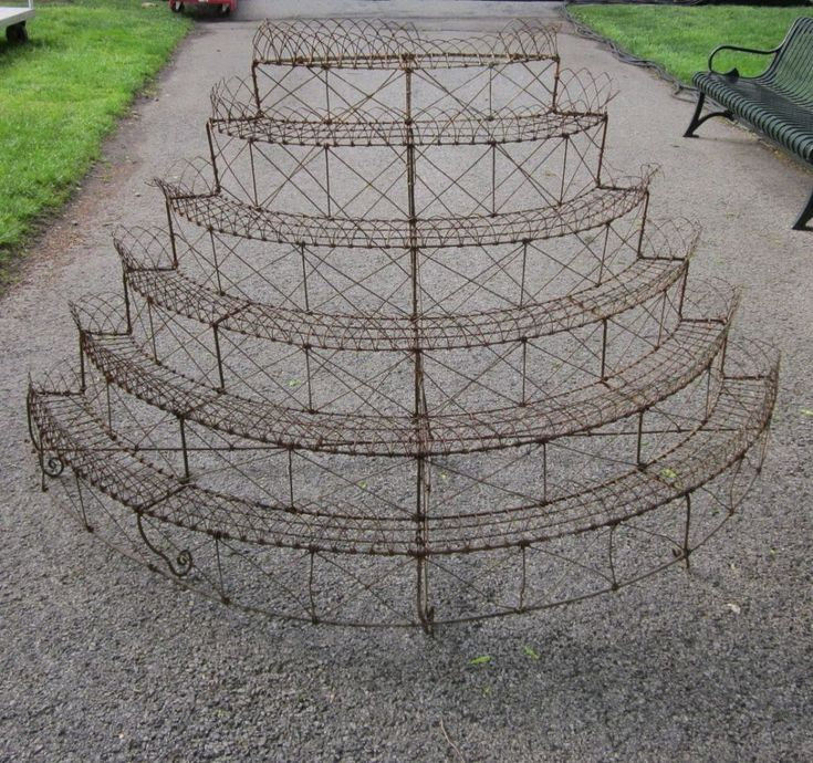 English Victorian Wire Plant Stand | From a unique collection of antique and modern planters and jardinieres at https://www.1stdibs.com/furniture/building-garden/planters-jardinieres/
