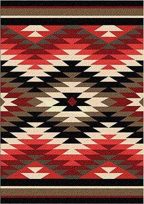 Santa Fe Orange Starburst Area Rug Native American Rugs