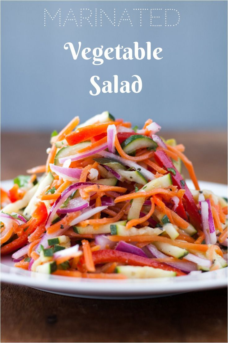Marinated Vegetable Salad with red wine vinaigrette- thekitchensnob.com #recipe #salad