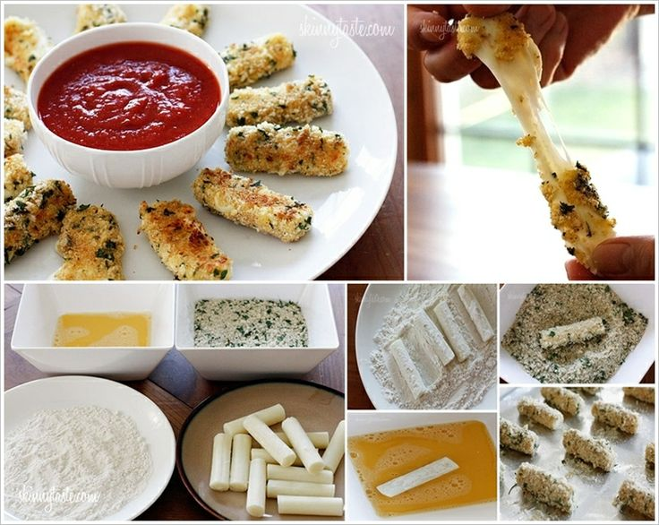 These Baked Mozzarella Sticks will be Great for a Party | Stylish Board