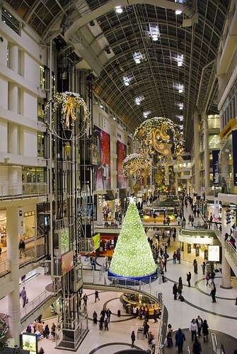 Eaton Centre - Toronto  i remember this being built  late 1970s  what a sight to see.