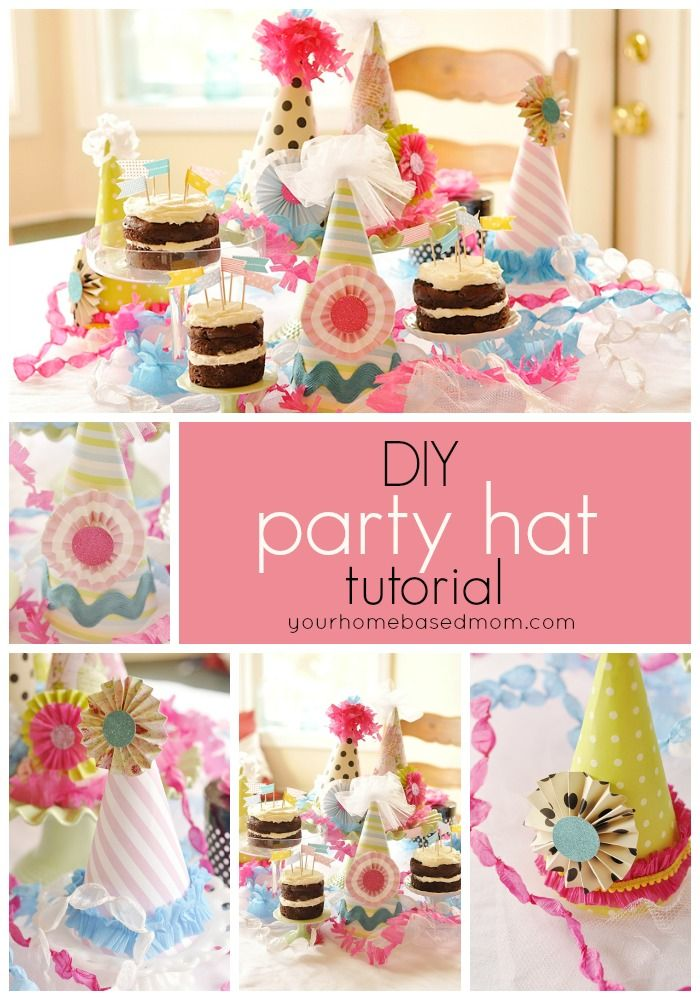 party hat tutorial! Perfect for birthdays!