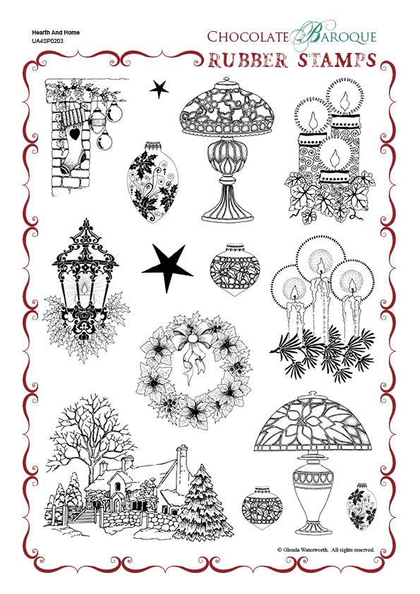 Hearth and Home Unmounted Rubber Stamp Sheet - A4