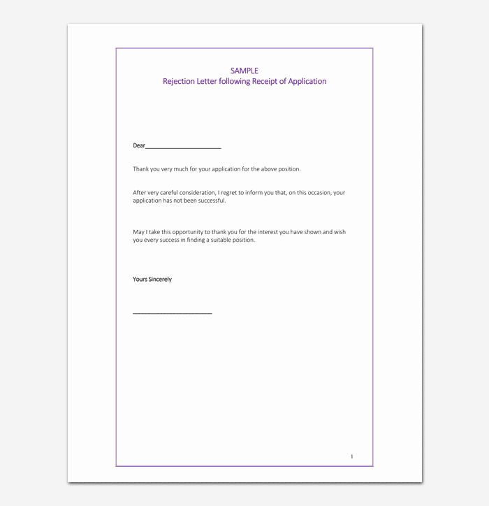 Application Rejection Letter Awesome Grant Rejection Letter Samples Examples Formats Letter Template Word Lettering Rejection