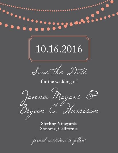 Send out a fully customizable save the date card to get your guests excited for your special day.