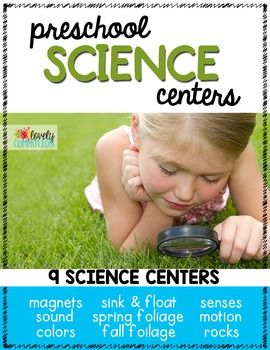 Preschool Science Centers- 9 units for ready to go preschool science centers all year long!