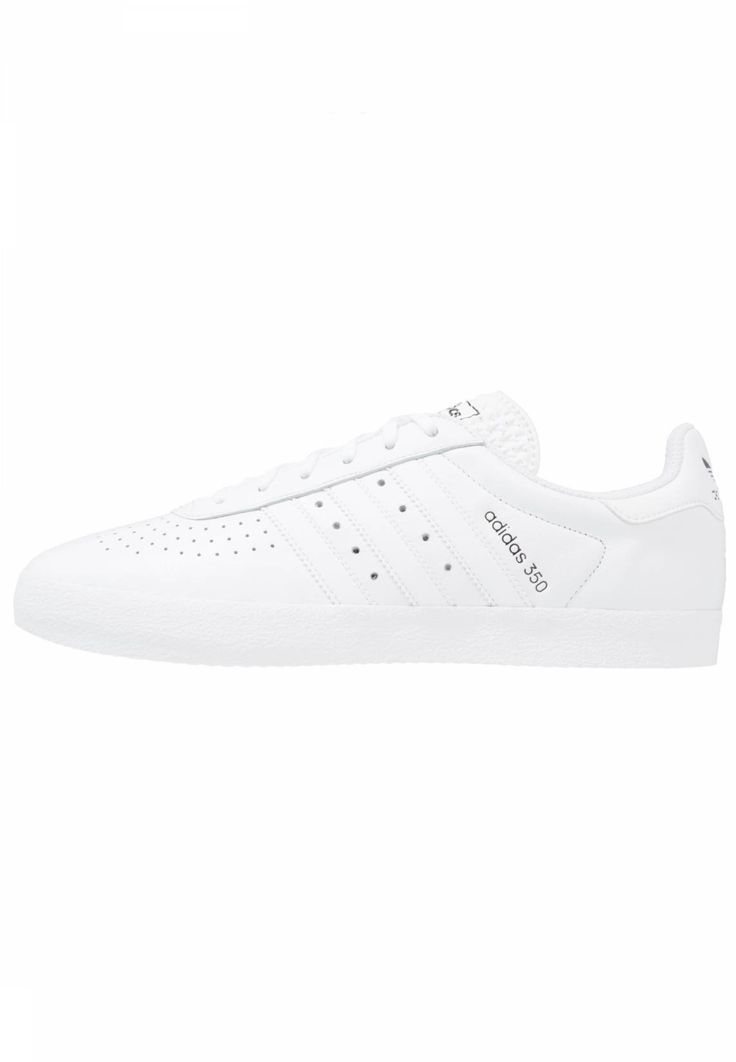 adidas Originals. 350 - Trainers - white/core black. Pattern:plain. Sole:synthetics. Shoe tip:round. Padding type:Cold padding. Heel type:flat. Lining:textile. detail:decorative seams. shoe fastener:laces. upper material:leather and imitation leather...