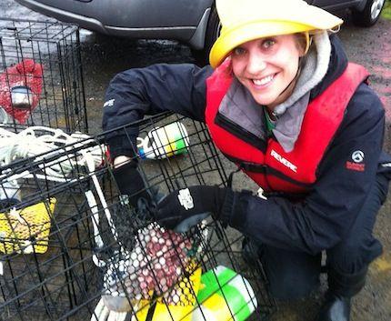 "Katherine Gengler of Oregon ""Kinco crabbing on the Oregon Coast"""