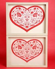 Papercut Hearts made by Martha Stewart