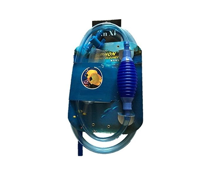 Siphon Vacuum Aquarium Gravel Cleaner total 8-foot-2-inch with Hose Clip Holder