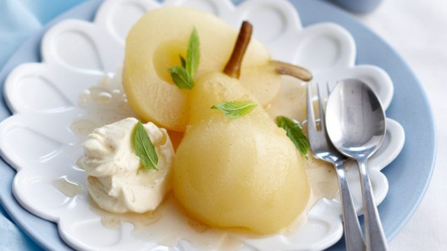 Ginger poached pears with ginger cream | Recipe | Poached Pears, Pears ...