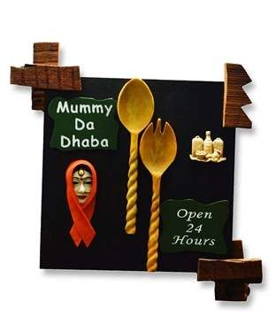 mummy da dhaba wall hanging i found an amazing deal at fashionandyoucom and - Open Hotel Decorating