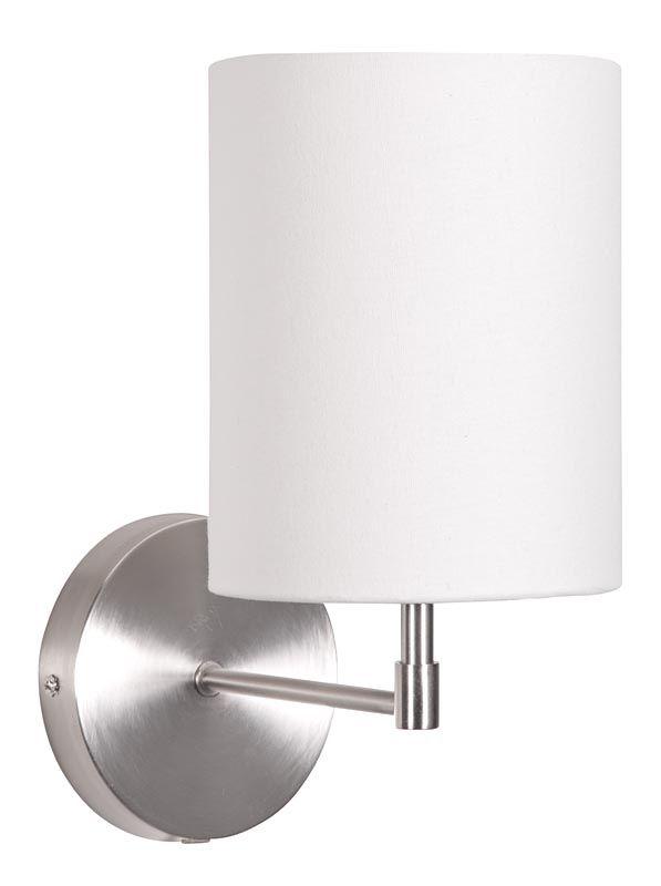 Wandlamp Lisse: een moderne lamp voor de slaapkamer in de kleuren wit, grijs en zwart #moderne #verlichting