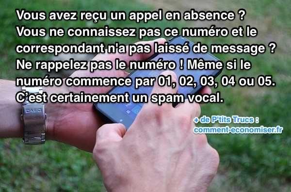 """Avez-vous déjà reçu des appels qui ne sonnent qu'une seule fois ? C'est une nouvelle technique d'escroquerie en vogue ces derniers temps. Cette technique frauduleuse est un spam vocal (aussi appelé """"ping calls"""").  Découvrez l'astuce ici : http://www.comment-economiser.fr/appel-en-absence-:-comment-dejouer-ces-arnaques.html?utm_content=buffer2d51d&utm_medium=social&utm_source=pinterest.com&utm_campaign=buffer"""