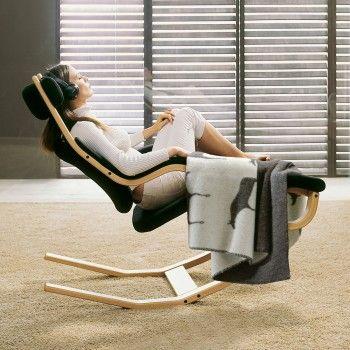 Fauteuil ergonomique Gravity™ Balans® par Variér - position 3 (relaxation active)