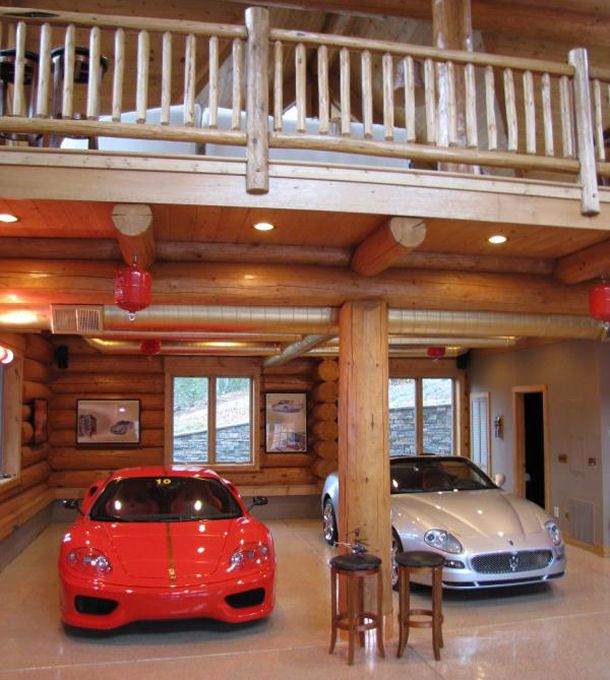 Pinning this for nathan sweet idea open concept garage for Garage cabin