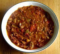 Goulashsoep met kip, een origineel recept van de Happy Chief Cook.