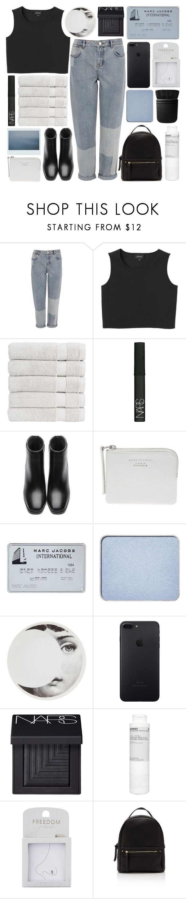 """CARRY THE CROWN"" by glowing-eyes ❤ liked on Polyvore featuring Karen Millen, Monki, Christy, NARS Cosmetics, Acne Studios, shu uemura, Fornasetti, Korres and Topshop"