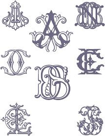This is a small sampling of the custom monograms that we do at the shop. Often, customers have these gorgeous vintage monograms digitized so...