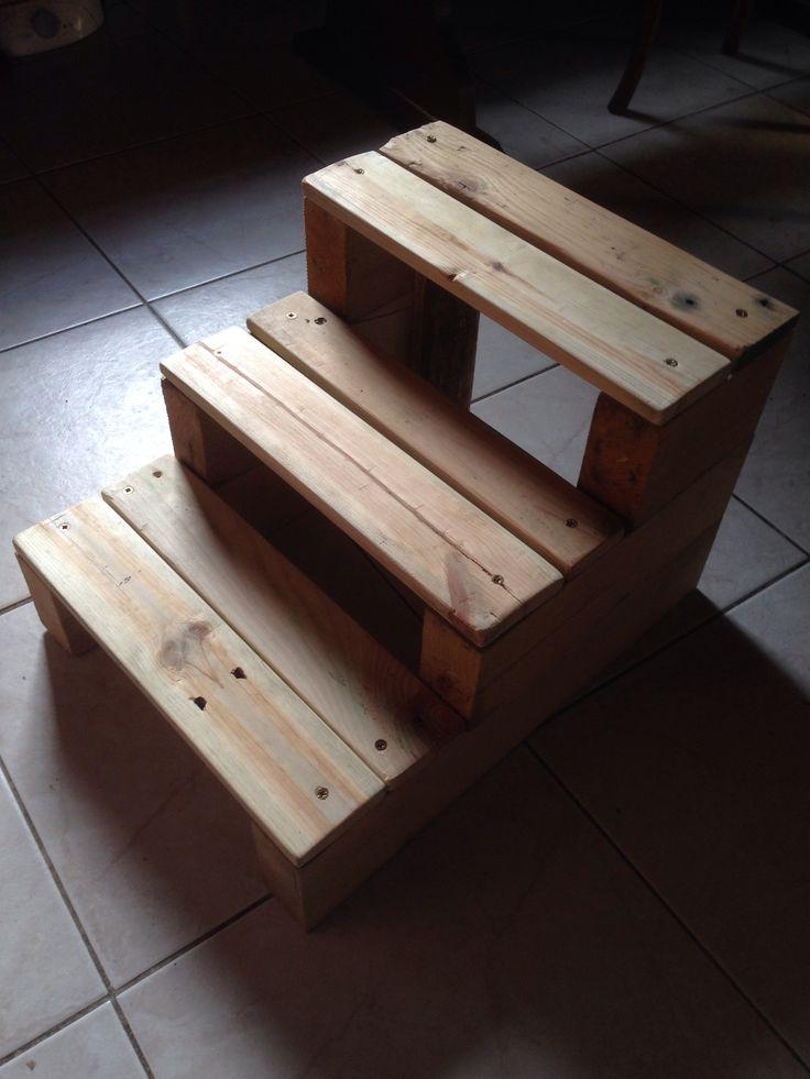Escabeau en bois de palette Idées pour la maison Pinterest # Palette En Bois A Donner
