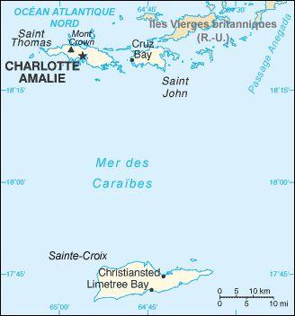 Carte des îles Vierges des États-Unis ◆Îles Vierges des États-Unis — Wikipédia http://fr.wikipedia.org/wiki/%C3%8Eles_Vierges_des_%C3%89tats-Unis #US_Virgin_Islands