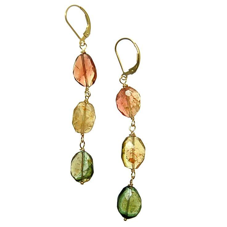 Tourmaline 3 tier Earrings (E1980R) $150