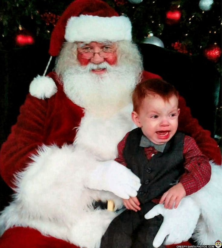 NEVER TRUST A MAN REDDER THAN YOU ARE - Creepy Santa