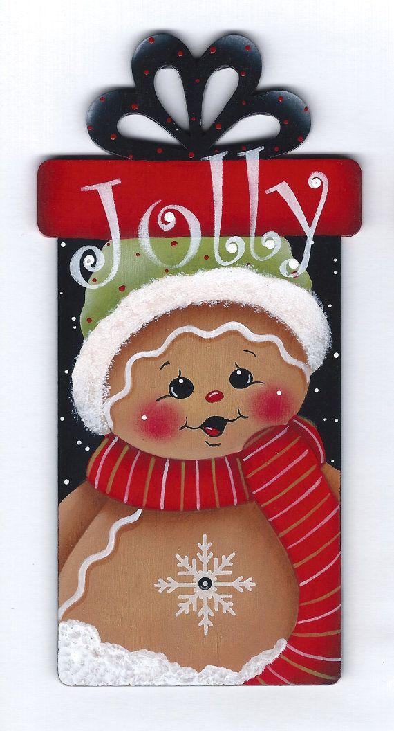 Un alegre presente Gingerbread pintura-patrón por GingerbreadCuties